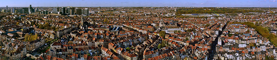145° panoramic view of Brussels West
